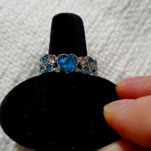NWOT Sterling Silver and Aquamarine Ring
